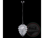 Crystal Lux CHARME SP1+1 LED CHROME/TRANSPARENT